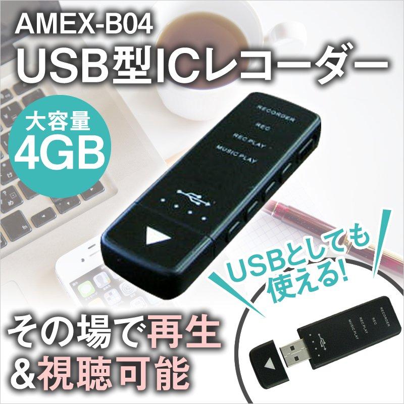 (1点)【USB型ICレコーダー・その場で再生&視聴可能・イヤフォン付】※カメラは付いていません。<青木製作所 >