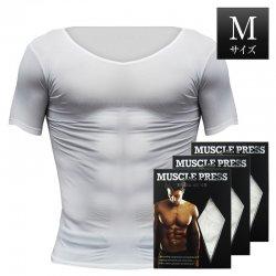 MONOVO マッスルプレス[ホワイト][Mサイズ](3枚セット)身長:165〜175cm、胸囲:88〜96cm