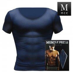 MONOVO マッスルプレス[ネイビー][Mサイズ](1枚)身長:165〜175cm、胸囲:88〜96cm