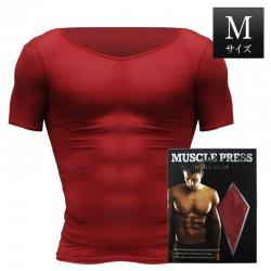 MONOVO マッスルプレス[レッド][Mサイズ](1枚)身長:165〜175cm、胸囲:88〜96cm