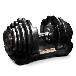MONOVO 可変式ダンベル[40kg・17段階調節][ブラック]1個