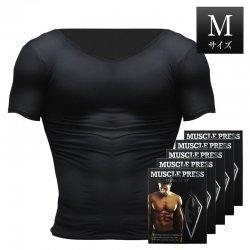 MONOVO マッスルプレス[ブラック][Mサイズ](5枚セット)身長:165~175cm、胸囲:88~96cm